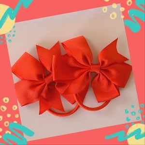 4 for $12 Poppy Red Elastic Hair Ties Ponytail